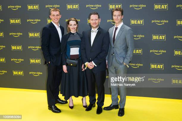 Jannis Niewoehner Karoline Herfurth Marco Kreutzpaintner and Alexander Fehling attend the premiere of the Amazon Original Series 'BEAT' at Kraftwerk...