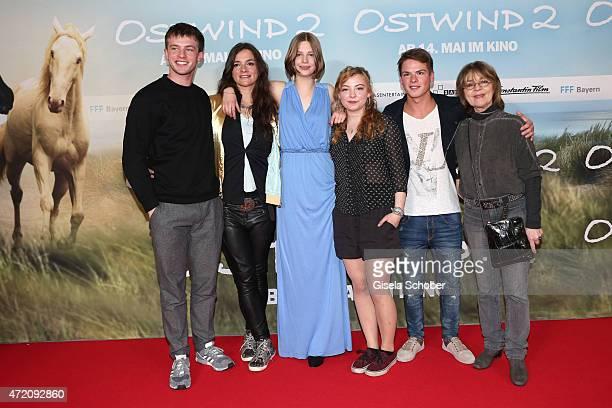 Jannis Niewoehner Katja von Garnier Hanna Binke Amber Bongard Marvin Linke and Cornelia Froboess during the German premiere of the film 'Ostwind 2'...