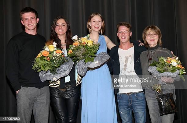 Jannis Niewoehner Katja von Garnier Hanna Binke Marvin Linke and Cornelia Froboess during the German premiere of the film 'Ostwind 2' on May 3 2015...