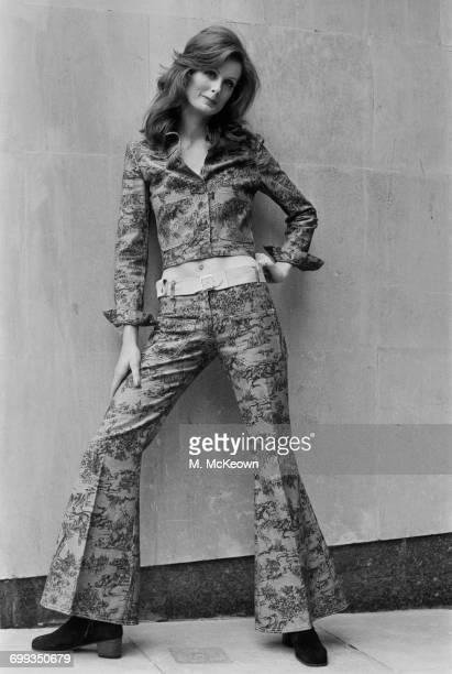 Janny Lewis models French fashion UK 14th September 1971