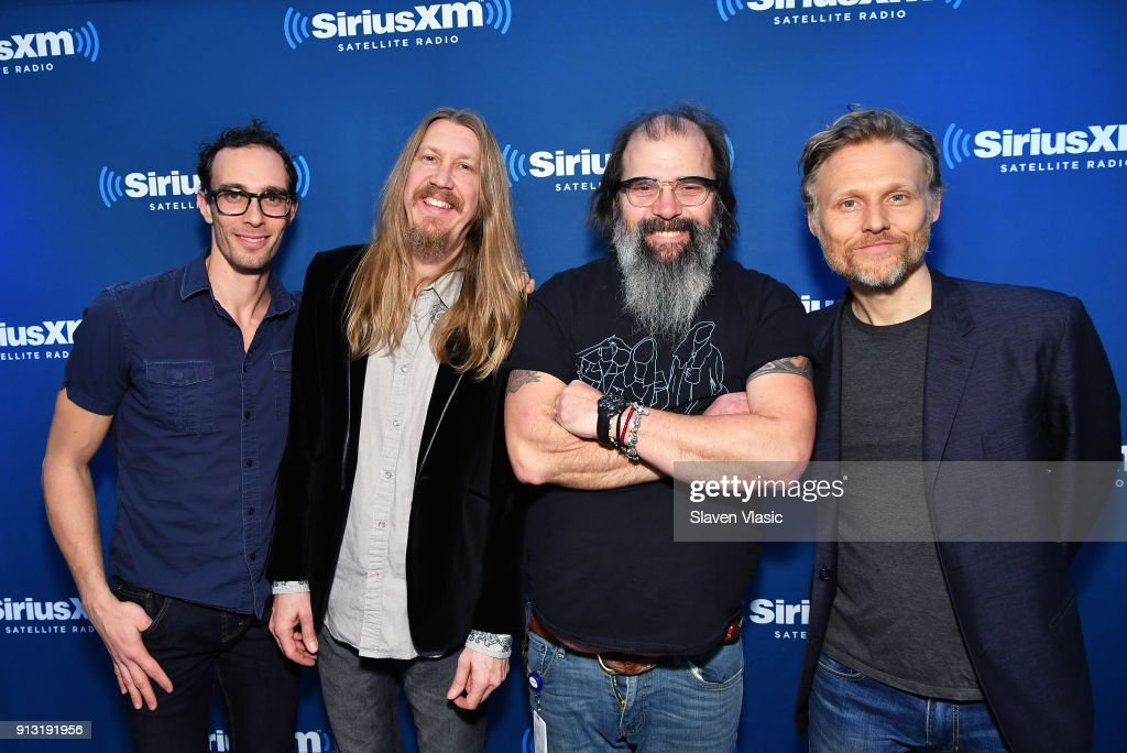 Jano Rix, Oliver Wood, Steve Earle and Chris WoodÊpose for photo at Outlaw Country at SiriusXM Studios on February 1, 2018 in New York City.