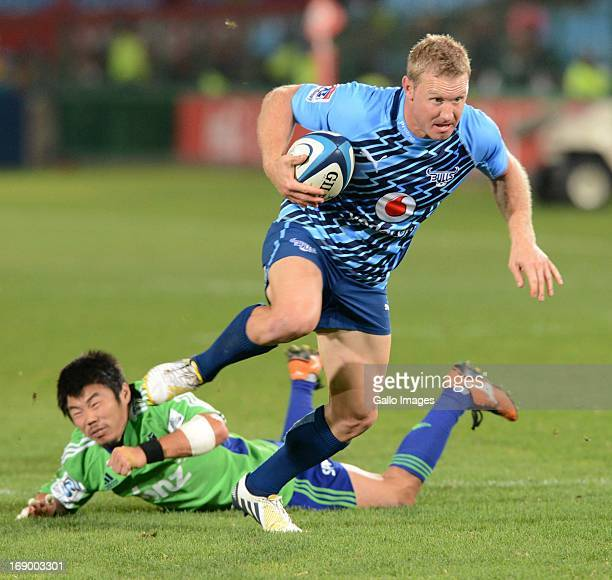 Jano Vermaak of Bull during the Super Rugby match between Vodacom Bulls and Highlanders from Loftus Versfeld on May 18 2013 in Pretoria South Africa