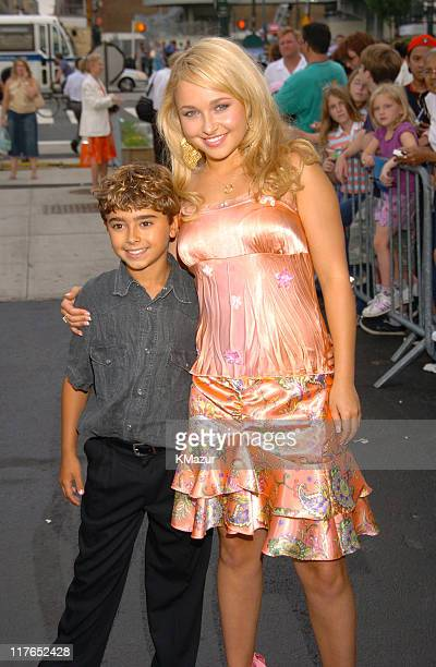 """Jansen Panettiere and Hayden Panettiere during the New York Premiere of """"Tiger Cruise"""" at the Intrepid Sea-Air-Space Museum on August 3, 2004. """"Tiger..."""