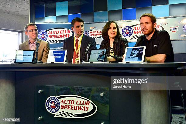 Janssen Pharmaceuticals Group Product Director Gregg Ruppersberger NASCAR Chief Sales Officer Jim O'Connell Auto Club Speedway President Gillian...