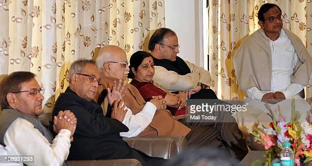 Janta Dalpresident Sharad Yadav Union Finance Minister Pranab Mukherjee senior BJP leaders LK Advani Sushma Swaraj Arun Jaitley and Union Home...
