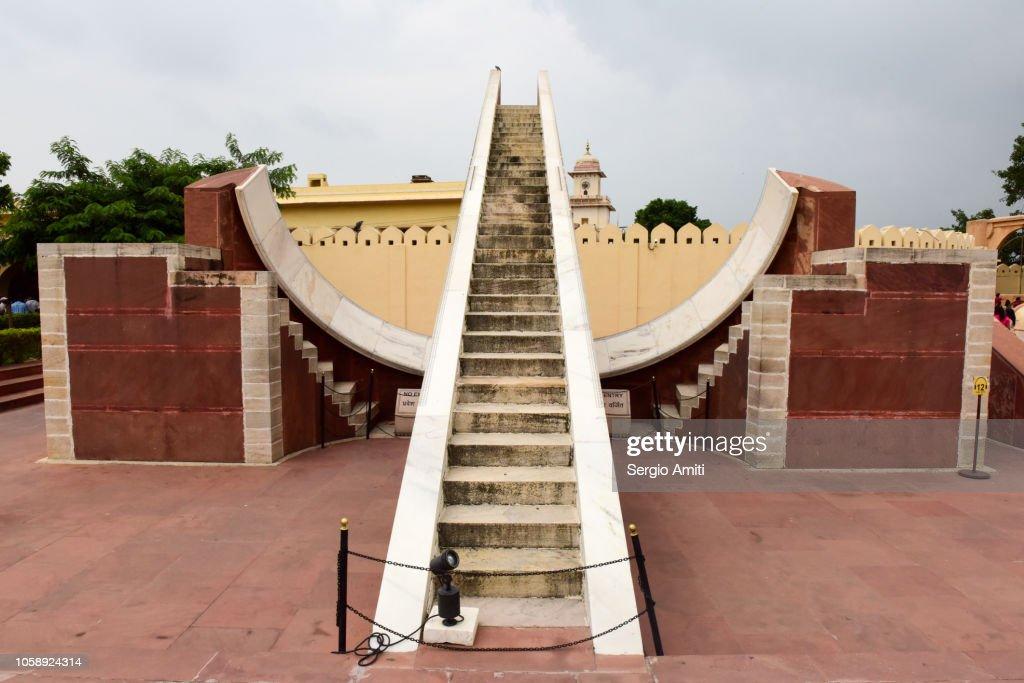 Jantar Mantar monument, Jaipur : Foto de stock