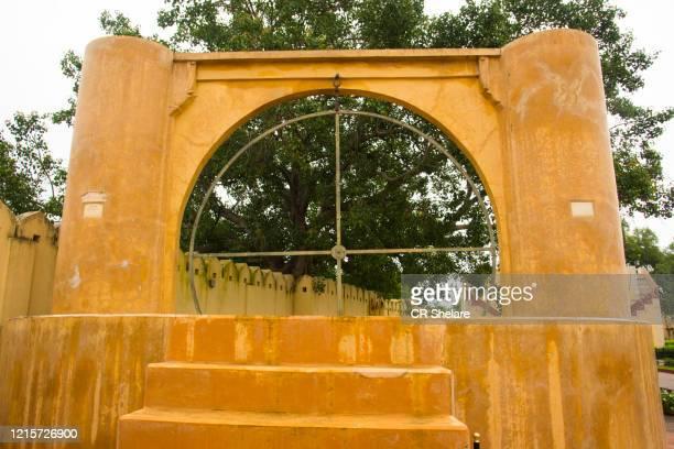 jantar mantar observatory, jaipur, india. unesco world heritage site - ジャンタルマンタル ストックフォトと画像