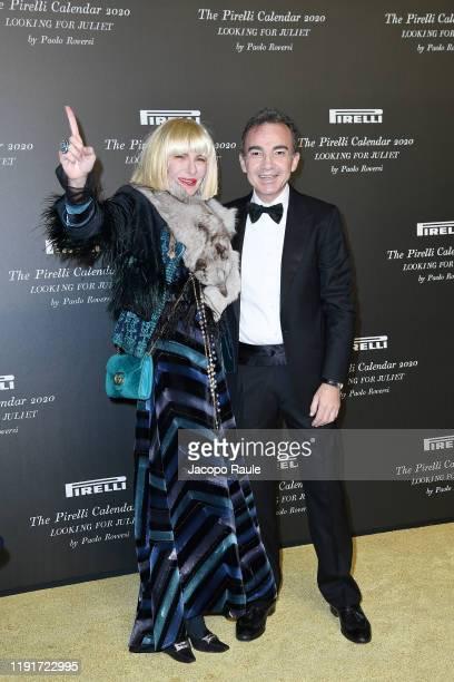 Januaria Piromallo and Antonio Gallo attend the presentation of the Pirelli 2020 Calendar Looking For Juliet at Teatro Filarmonico on December 03...