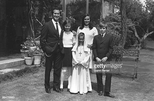 January 01 1968 Madrid Spain First Comunion of Paola The family in their house in Somosaguas