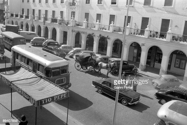 January 01 1972 Jerez de la Frontera Cadiz Spain A street of the town