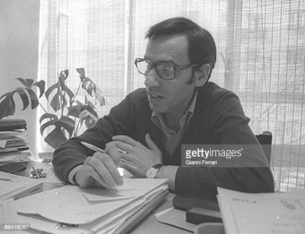 January 01 1978 Madrid Spain The PSOE Spanish Socialist Worker Party politician Alfonso Guerra in his office