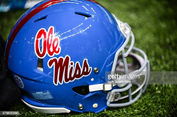 Ole Miss helmet during the 2016 Allstate Sugar Bowl featuring the Oklahoma State Cowboys vs Ole Miss Rebels at the MercedesBenz Superdome New Orleans...