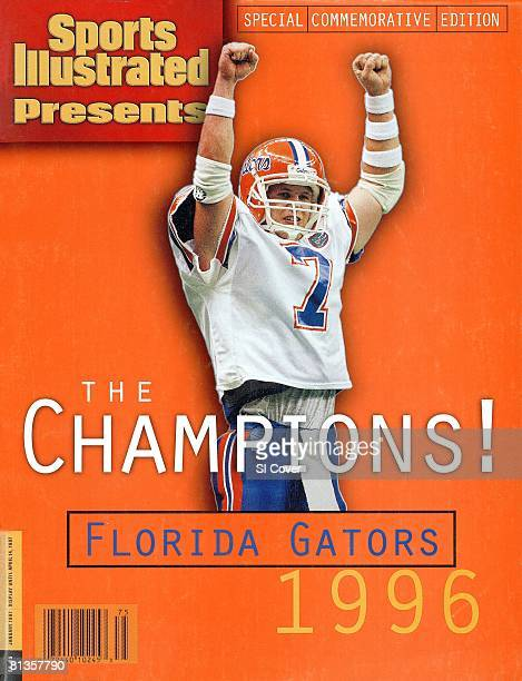 January 1 1997 Sports Illustrated Cover College Football Sugar Bowl Florida QB Danny Wuerffel victorious during game vs Florida State New Orleans LA...