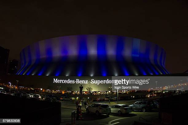 General view of the Mercedes-Benz Superdome prior to the Ohio State Buckeyes game versus the Alabama Crimson Tide in their College Football Playoff...