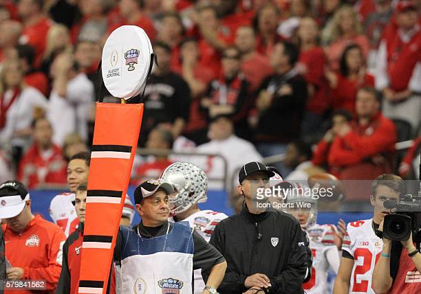 A set of line chains during the Ohio State Buckeyes game versus the Alabama Crimson Tide in their College Football Playoff Semifinal played in the...
