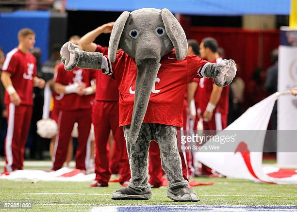 Alabama Crimson Tide mascot Big Al prior to the Ohio State Buckeyes game versus the Alabama Crimson Tide in their College Football Playoff Semifinal...
