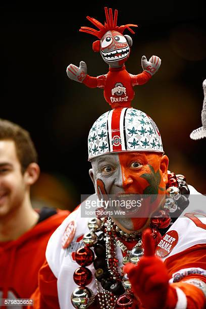 An Ohio State Buckeyes fan during the Ohio State Buckeyes game versus the Alabama Crimson Tide in their College Football Playoff Semifinal played in...