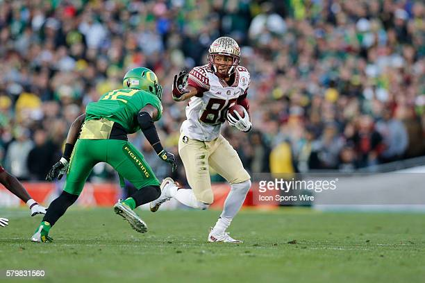 Florida State Seminoles wide receiver Rashad Greene runs after the catch during the College Football Playoff Semifinal Rose Bowl Game presented by...