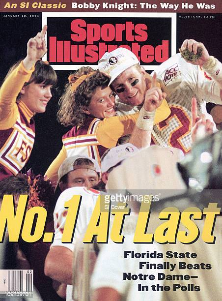 January 10 1994 Sports Illustrated via Getty Images CoverCollege Football Orange Bowl Florida State QB Matt Frier victorious with FSU cheerleaders...