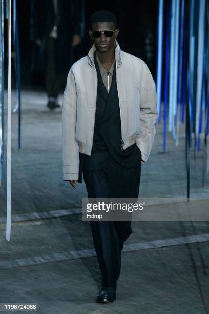 A model walks the runway at the Ermenegildo Zegna show during Milano Fashion Week Men's at Fonderia Macchi on January 10 2020 Milano Italy