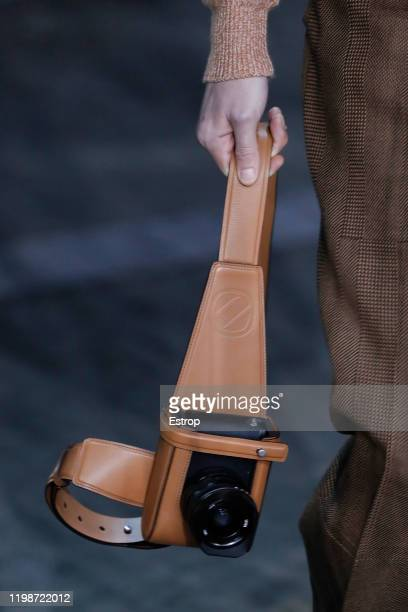 January 10: Bag detail at the Ermenegildo Zegna show during Milano Fashion Week Men's at Fonderia Macchi on January 10, 2020 Milano, Italy.