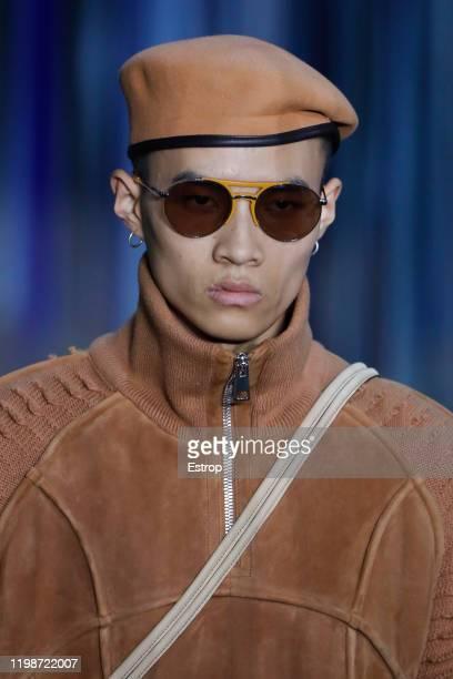 January 10: Headshot at the Ermenegildo Zegna show during Milano Fashion Week Men's at Fonderia Macchi on January 10, 2020 Milano, Italy.