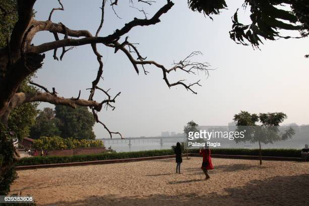 AHEMDABAD GUJARAT – January 10 The open air sand and gravel prayer space at the ashram The unusually sparse home of the Mahatma Gandhi called the...