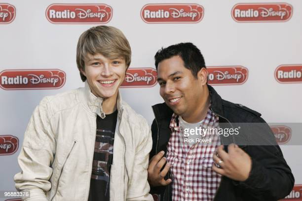 """January 11, 2010 - Sterling Knight, star of the Disney Channel Original Movie """"StarStruck,"""" joined Radio Disney's Ernie D in studio to talk about the..."""