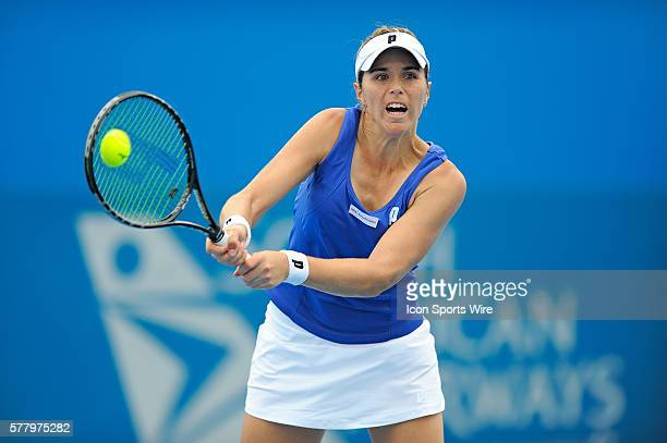 Maria Jose Martinez Sanchez in action during her second round match against Alisa Kleybanova at the Medibank International Sydney played at Sydney...