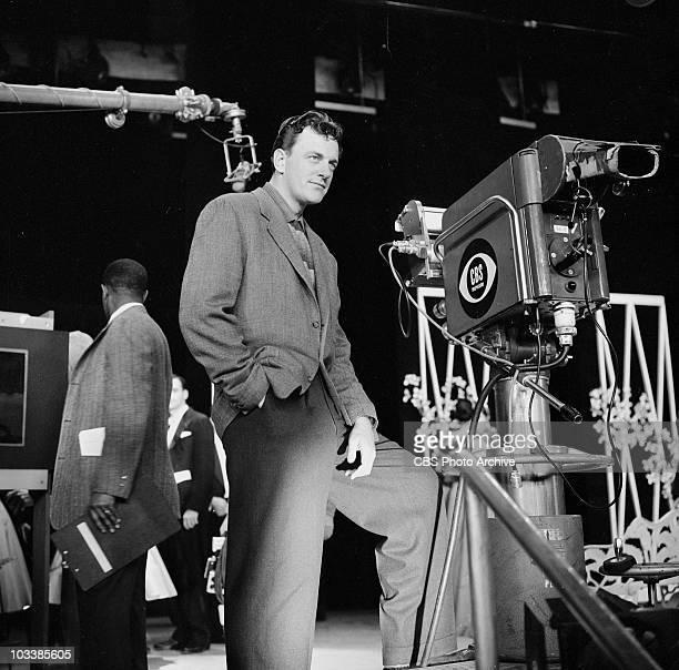 January 12 1958 James Arness on set of THE ED SULLIVAN SHOW