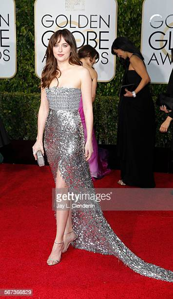 HILLS CA January 12 2015 Dakota Johnson at the 72nd Annual Golden Globe Awards show at the Beverly Hilton Hotel on January 11 2015