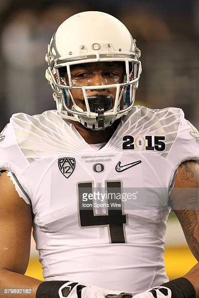 Oregon Ducks safety Erick Dargan during the Ohio State Buckeyes game versus the Oregon Ducks in the College Football Playoff National Championship at...