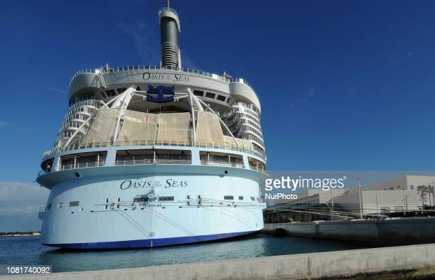 January 12 2019 Port Canaveral Florida United States Royal Caribbean International's 'Oasis of the Seas' cruise ship is seen at Port Canaveral...