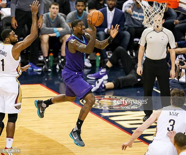 Charlotte Hornets forward Marvin Williams shoots a jump shot during the NBA game between the Charlotte Hornets and the New Orleans Pelicans at the...