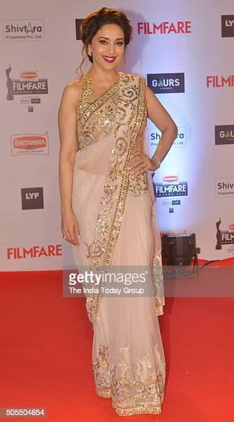Madhuri DixitNene at the 61st Filmfare awards in Mumbai