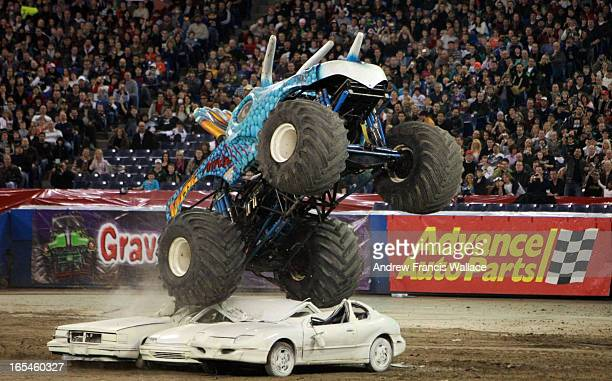 January 16 2010 Jurassic Attack during Monster Truck event at the Rogers Centre