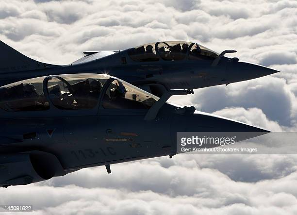 january 18, 2010 - dassault rafale b of the french air force off the normandy coast. - dassault rafale stock pictures, royalty-free photos & images