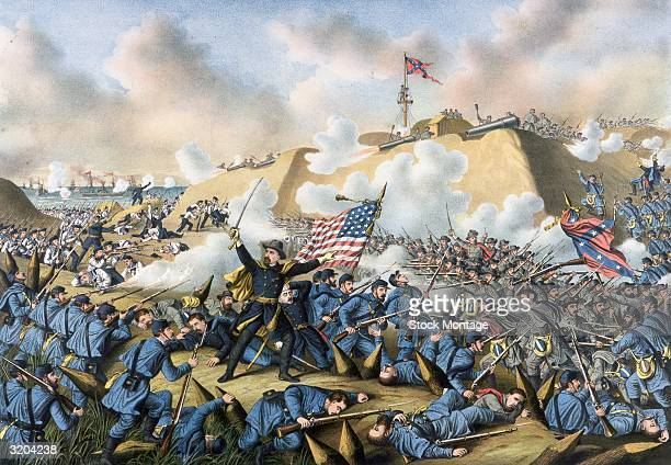 US Civil War 186165 After bombardment from a Union naval force under Rear Admiral David Porter 13 January 1865 Federal troops attacked the...