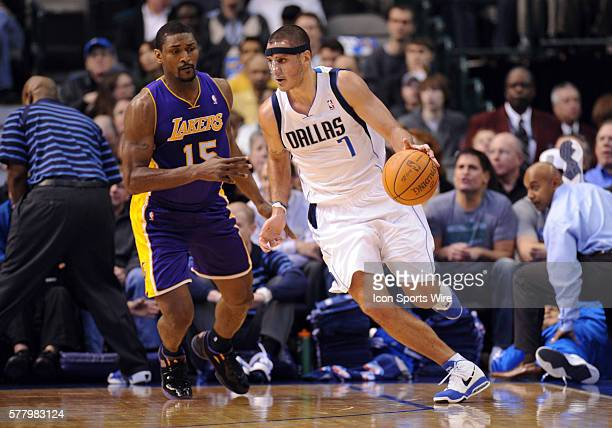 Dallas guard Sasha Pavlovic in an NBA game between the Los Angeles Lakers and the Dallas Mavericks at the American Airlines Center in Dallas TX...