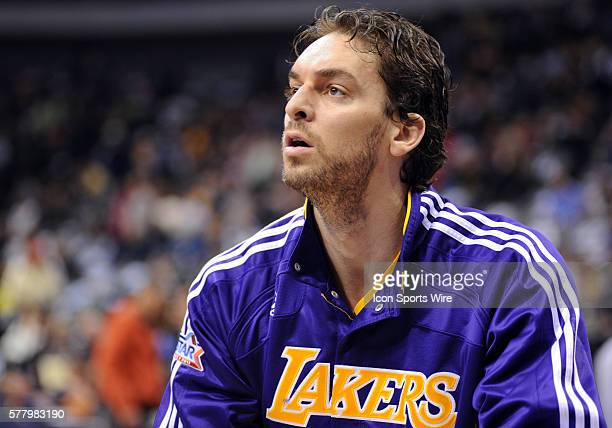 Los Angeles Lakers power forward Pau Gasol in an NBA game between the Los Angeles Lakers and the Dallas Mavericks at the American Airlines Center in...