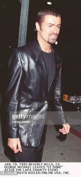 January 19 Beverly Hills Ca George Michael Leaves 'Le Dome' Restaurant After Attending The Apla Charity Event