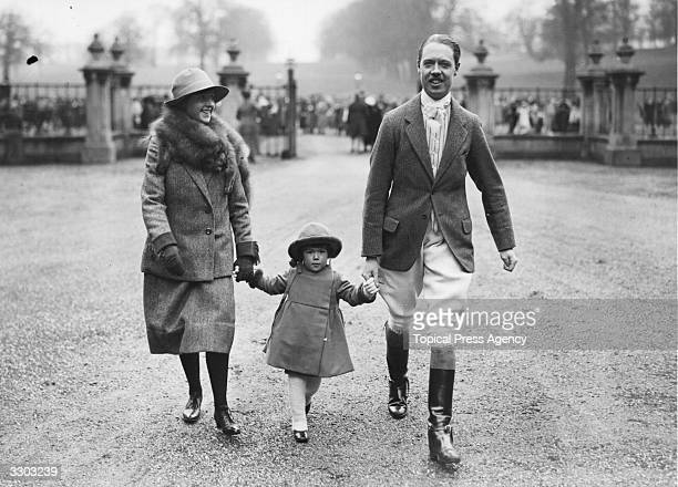 Albert Edward John Spencer who succeeded as 7th Earl Spencer in 1922 with his daughter Lady Anne Spencer and his sister Lady Margaret Spencer They...