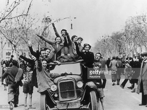 Spanish Nationalists in Barcelona rejoice at the arrival of General Franco's forces in the city during the Spanish Civil War Barcelona was the last...