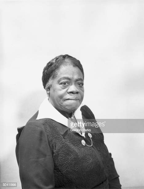 Portrait of Dr Mary McLeod Bethune president and founder of BethuneCookman College Daytona Beach Florida