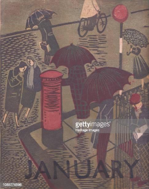 January' 1951 Design for a calendar Artist Shirley Markham