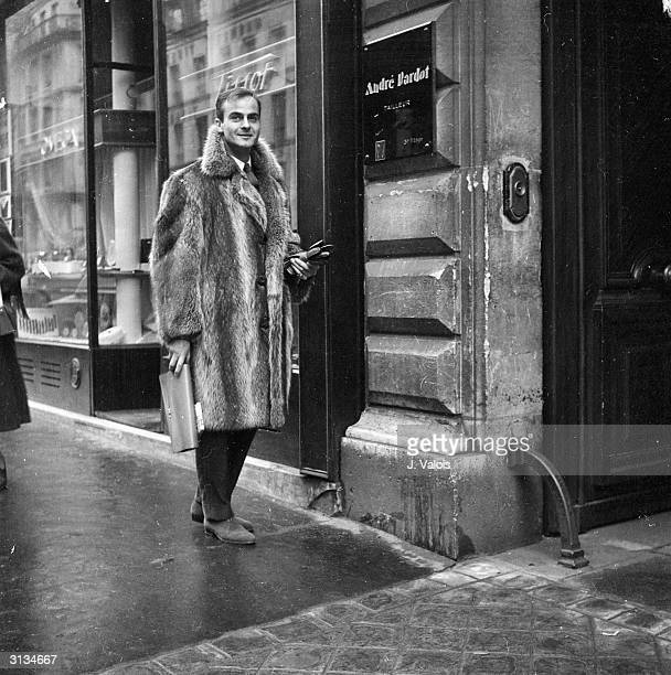 A man wearing a Canadian marmot coat by Paris tailor Andre Bardot