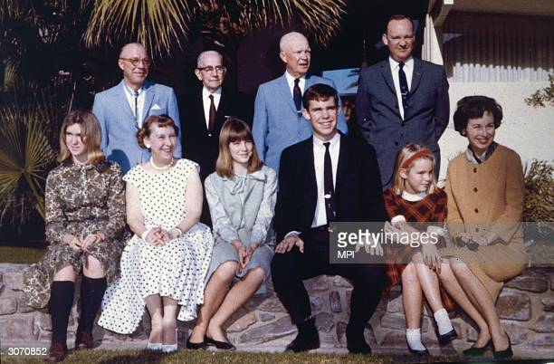 Dwight David Eisenhower , the 34th president of the United States with his family at the Eldorado Country Club in Palm Desert, California. From left...