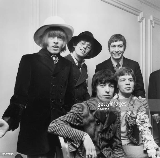 British rock group The Rolling Stones from left to right Brian Jones Bill Wyman Charlie Watts Keith Richards and Mick Jagger