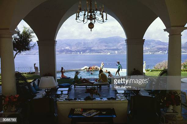 Las Brisas, the home of Eustaquio Escandon in Acapulco. It is where Henry Kissinger spent his honeymoon. A Wonderful Time - Slim Aarons