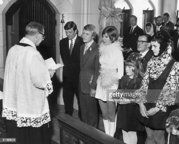 Pop singer and TV star Cilla Black with her manager and husband at their second marriage ceremony , the first was in Marylebone Registry office in...